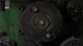 Ingranaggio girante del metallo stock footage