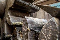 Ingranaggio industriale unto Fotografie Stock