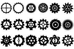 Ingranaggio a macchina della ruota dentata, insieme delle ruote di ingranaggio Fotografie Stock Libere da Diritti