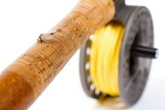 Ingranaggio Rod della pesca con la mosca e bobina Fotografia Stock Libera da Diritti