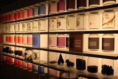 Ingrédients de nourriture tropicaux montrés au Musée National de Singapour Image stock