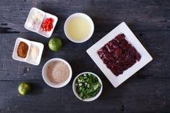 Ingrediënt voor gekookte Lever in Kruidige Specerij royalty-vrije stock foto