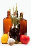 Ingrediënten en flessen Royalty-vrije Stock Fotografie