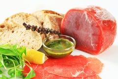 Ingrediënten voor rundvlees Carpaccio Stock Afbeeldingen