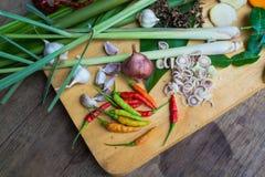 Ingrediënten Thaise tum-YAM Stock Afbeeldingen