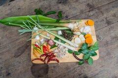 Ingrediënten Thaise tum-YAM Stock Fotografie
