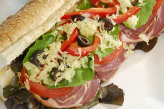 Ingrediënten van een Sandwich Royalty-vrije Stock Afbeeldingen