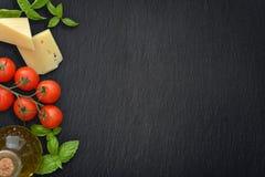 Ingrediënten van Italiaanse keuken royalty-vrije stock foto