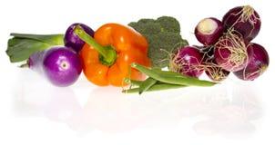Ingrediënten: verse groenten Stock Foto's
