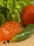 Ingrediënten VI van de salade royalty-vrije stock fotografie