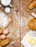 Ingrediënten voor bakkerijproducten royalty-vrije stock afbeeldingen