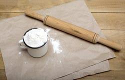 Ingrediënten voor bakselvoedsel stock afbeelding