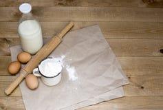 Ingrediënten voor bakselvoedsel stock foto's