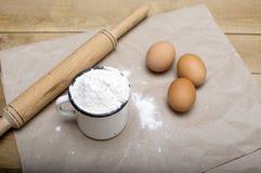 Ingrediënten voor bakselvoedsel royalty-vrije stock afbeeldingen