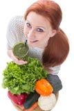 Ingrediënten voor een groene smoothie Royalty-vrije Stock Foto's