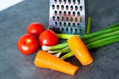 Ingrediënten voor een Salade Royalty-vrije Stock Afbeeldingen