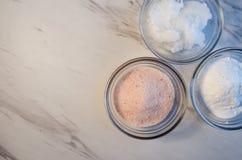 Ingrediënten voor Eigengemaakte Tandpasta royalty-vrije stock foto
