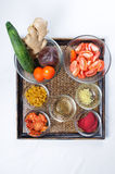 Ingrediënten voor gezonde drankschokken Royalty-vrije Stock Foto's