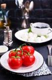 Ingrediënten voor Griekse salade Stock Afbeelding