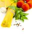 Ingrediënten voor het Italiaanse koken Royalty-vrije Stock Foto's