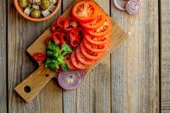 Ingrediënten voor het koken van salade Royalty-vrije Stock Foto's
