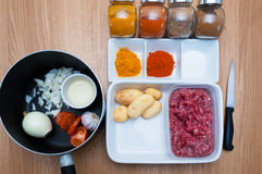 Ingrediënten voor Indische Kerrie Royalty-vrije Stock Fotografie