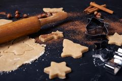 Ingrediënten voor Kerstmis het koken Royalty-vrije Stock Afbeeldingen