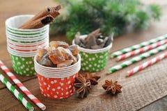 Ingrediënten voor Kerstmisbaksel Stock Foto's