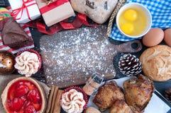Ingrediënten voor Kerstmismaaltijd royalty-vrije stock afbeelding