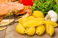 Ingrediënten voor krabdeegwaren Royalty-vrije Stock Foto