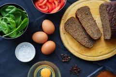 Ingrediënten voor ontbijt Stock Foto's