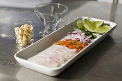 Ingrediënten voor Peruviaanse ceviche Royalty-vrije Stock Afbeeldingen