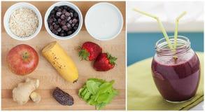 Ingrediënten voor smoothie Stock Afbeelding