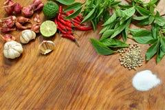 Ingrediënten voor Thais voedsel Stock Afbeelding
