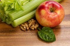 Ingrediënten voor waldorfsalade Royalty-vrije Stock Foto's