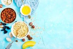 Ingrediants for breakfast stock images