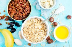 Ingrediants for breakfast royalty free stock photo