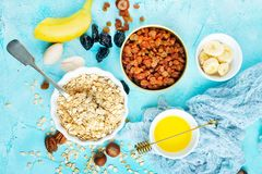 Ingrediants for breakfast royalty free stock photos