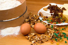 Ingredience de cuisson Photos stock