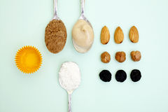 Ingrediens bonbons Stock Images