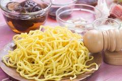 Ingrediens för att laga mat Yakisoba Royaltyfria Foton
