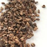 Ingrediens: kakaostift, precis rå kakao arkivbilder