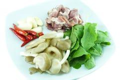 Ingrediensen av thailändsk mat Arkivfoton