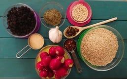 ingredienser Fotografering för Bildbyråer