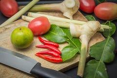 Ingredienser av thailändsk kokkonst Arkivfoton