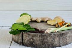 Ingredienser av thailändsk kryddig mat, tom yum Arkivfoton