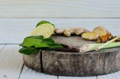 Ingredienser av thailändsk kryddig mat, tom yum Royaltyfria Foton