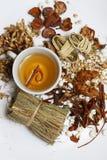 Ingredienser för asiatisk stärkande drink Arkivfoton