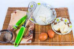 Ingredienser för att baka Fotografering för Bildbyråer