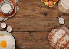 Ingredienser för att laga mat bageriprodukter Arkivfoton
